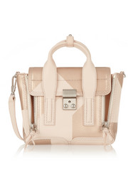 The Pashli mini leather trapeze bag