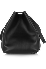 Quill leather bucket bag