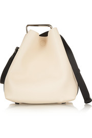 Quill mini leather bucket bag