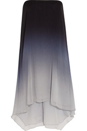 Ombré chiffon dress