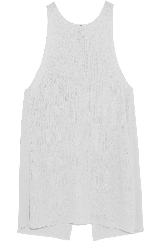 Halston Fine-knit jersey top