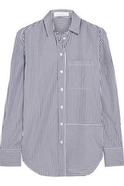 Oversized striped cotton shirt