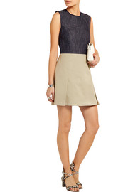 Victoria Beckham Denim Denim and cotton-blend twill mini dress