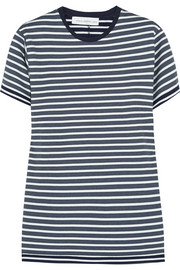 Victoria Beckham Denim Striped stretch-jersey T-shirt