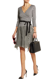 Diane von Furstenberg Riviera plaid silk-jersey and chiffon wrap dress