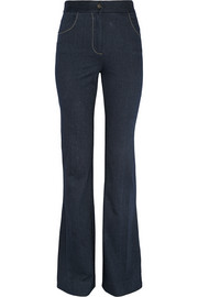 Debbie stretch-denim flared jeans