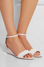 Juniper cutout leather wedge sandals