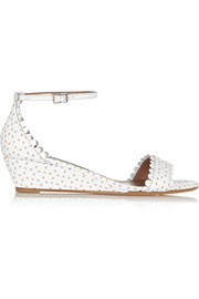Tabitha Simmons Juniper cutout leather wedge sandals