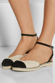 Sebille two-tone suede and linen espadrilles