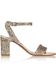 Tabitha Simmons Leticia glitter-finished leather sandals