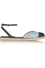 Sebille two-tone denim espadrilles