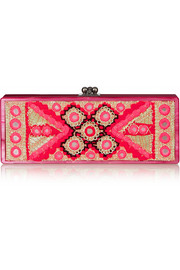 Edie Parker Flavia embellished acrylic clutch