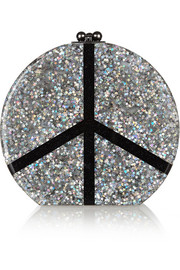 Oscar Peace glittered acrylic box clutch