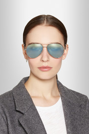 Aviator-style mirrored sunglasses