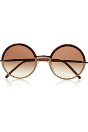 Cutler and Gross Round-frame metal and acetate sunglasses