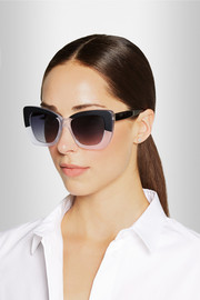 Cat eye matte-acetate sunglasses