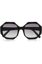 Lane octagon-frame acetate sunglasses