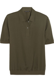 Theory Curza silk polo shirt