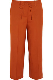 Theory Tennen cropped wool wide-leg pants
