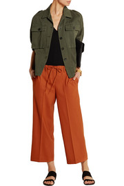 Tennen cropped wool wide-leg pants