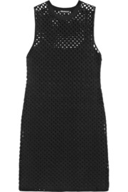Natialee crocheted cotton-blend mini dress