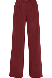 Theory Tavimmy stretch-gabardine wide-leg pants