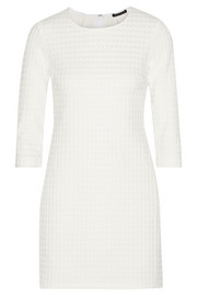 Theory Textured stretch-jersey mini dress