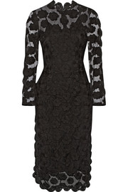 Simone Rocha Crochet-trimmed floral-embroidered tulle dress