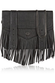 Proenza Schouler PS1 large fringed leather clutch