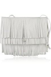 The Lunch Bag fringed leather shoulder bag