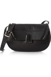 U textured-leather shoulder bag