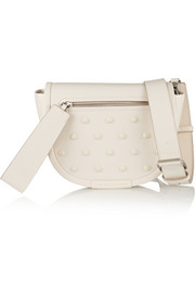 Luna studded leather shoulder bag