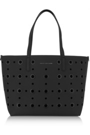 Metropolitote eyelet-embellished leather tote