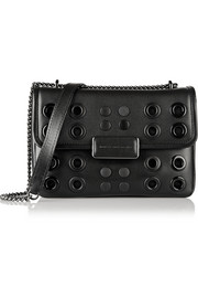 Rebel 24 eyelet-embellished leather shoulder bag
