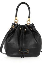 Too Hot To Handle textured-leather bucket bag