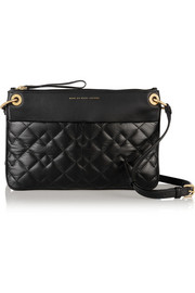 Tread Lightly quilted textured-leather shoulder bag
