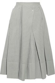 Riko eyelet cotton midi skirt