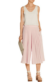 Simone pleated silk culottes