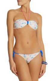 Solid and Striped + Poppy Delevingne printed bandeau bikini