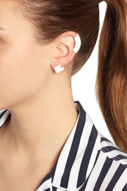 Marc by Marc Jacobs Donut rubber-coated earrings