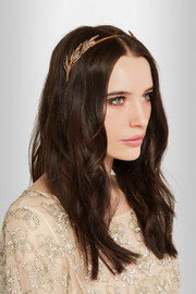 Gold-plated Swarovski crystal headband