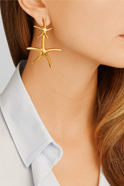 Starfish gold-plated earrings