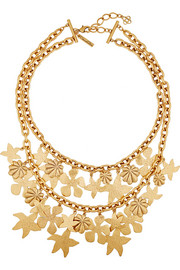 Oscar de la Renta Seashell gold-plated necklace