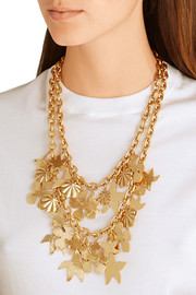 Seashell gold-plated necklace