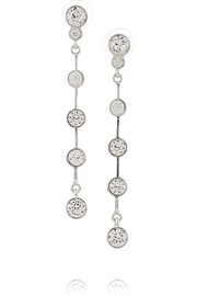 Silver-tone Swarovski crystal earrings