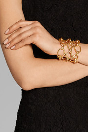 Twisted Rope gold-plated bracelet