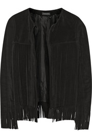 Finds + THEPERFEXT April fringed suede jacket