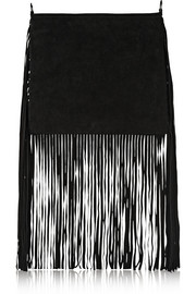 + THEPERFEXT Blair fringed suede shoulder bag