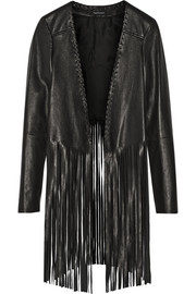 Finds + THEPERFEXT Christy fringed leather jacket