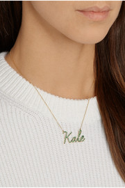 Finds + Khai Khai Kale 18-karat gold tsavorite necklace